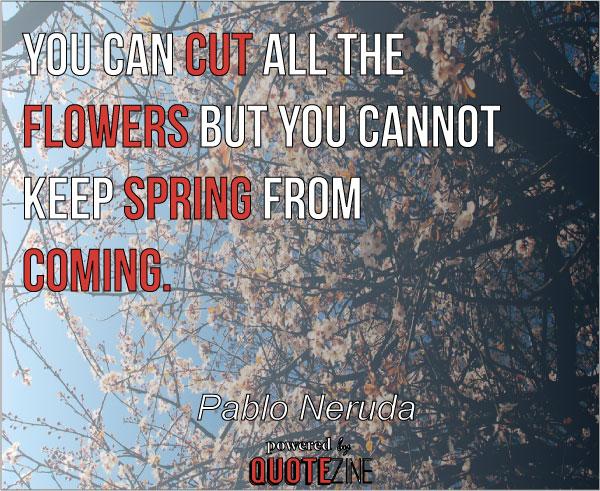 Pablo Neruda spring